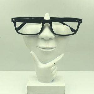 Rogue Eyewear Black Oval Glasses Frames